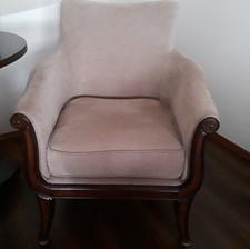 light tan upholstered chair