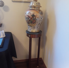 new Asian decorated jar with lid