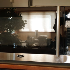 stainless steel Oster microwave
