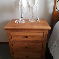 newer contemporary simple Mission-style bedside table