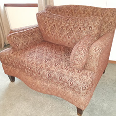 upholstered armchair Thea's Vintage Living Tigard Oregon Estate Sale December 8th 9th 2018