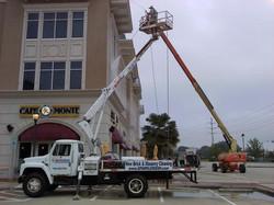 power washing three story building