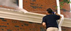 power washing building trim