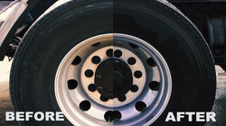 tire wash before after