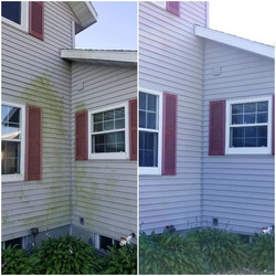 before_after power washing house