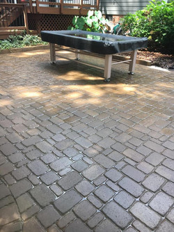 brick patio after its been pressure wash