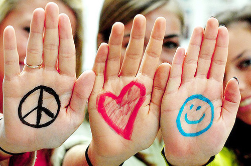 Love, Peace, Happy