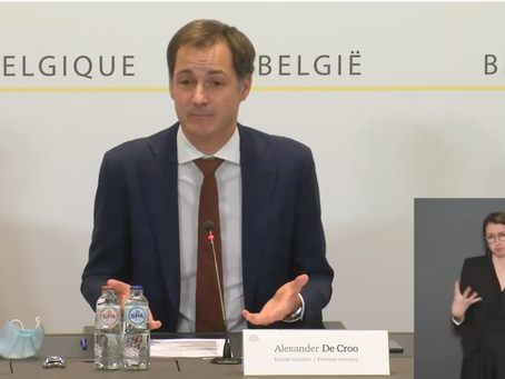 "De Croo: ""There is no room for relaxation."""