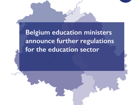 Belgium education ministers announce further regulations for the education sector
