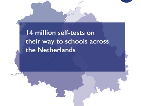 14 million self-tests on their way to schools across the Netherlands