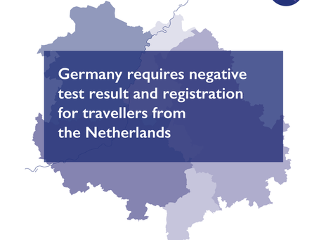 Germany requires negative test result and registration for travellers from the Netherlands