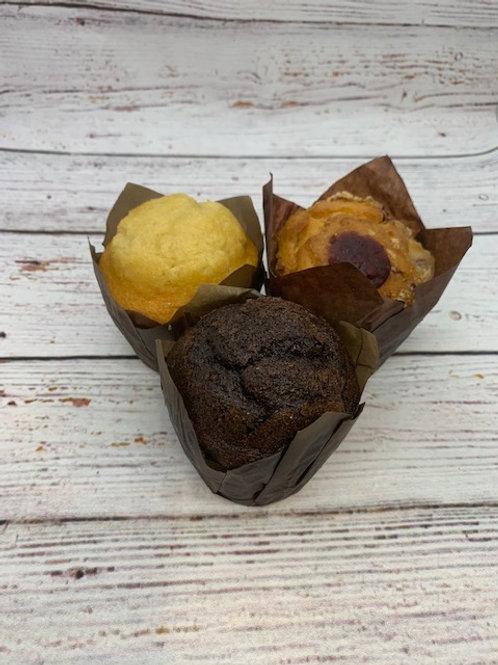 Muffin Vanille/Stratiatella/Chocolade/Caramel/Rode Vruchten/Marshmallow/Banaan