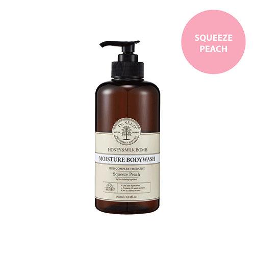 Dr.SEED - 蜂蜜牛奶舒敏沐浴露 (香桃味) Honey & Milk Bomb Moisture Body Wash Squeeze Peach
