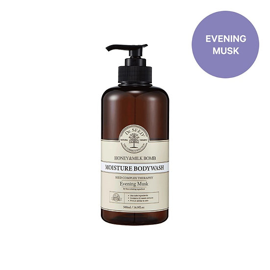 Dr.Seed - 蜂蜜牛奶舒敏沐浴露 (夜麝香味) Honey & Milk Bomb Moisture Body Wash Evening Musk