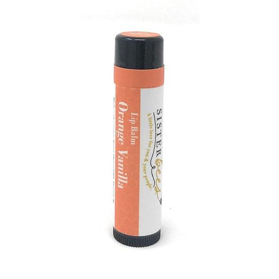 Sisiter Bees - 橙香草全天然蜂蠟潤唇膏 Orange Vanilla All Natural Beeswax Lip Balm