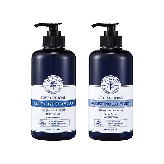 Dr.SEED - 生長天然洗髮護髮套裝 Super Seed Bomb Revitalize Shampoo & Treatment Set