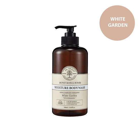 Dr.Seed - 蜂蜜牛奶舒敏沐浴露 (百合花味) Honey & Milk Bomb Moisture Body Wash White Garden