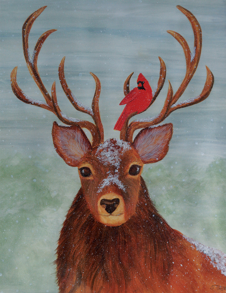 Stag and Cardinal