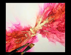 Pink Playground Abstract | © 2020 Judy Thompson | Watercolor Addict | Abstract Art of Lady J