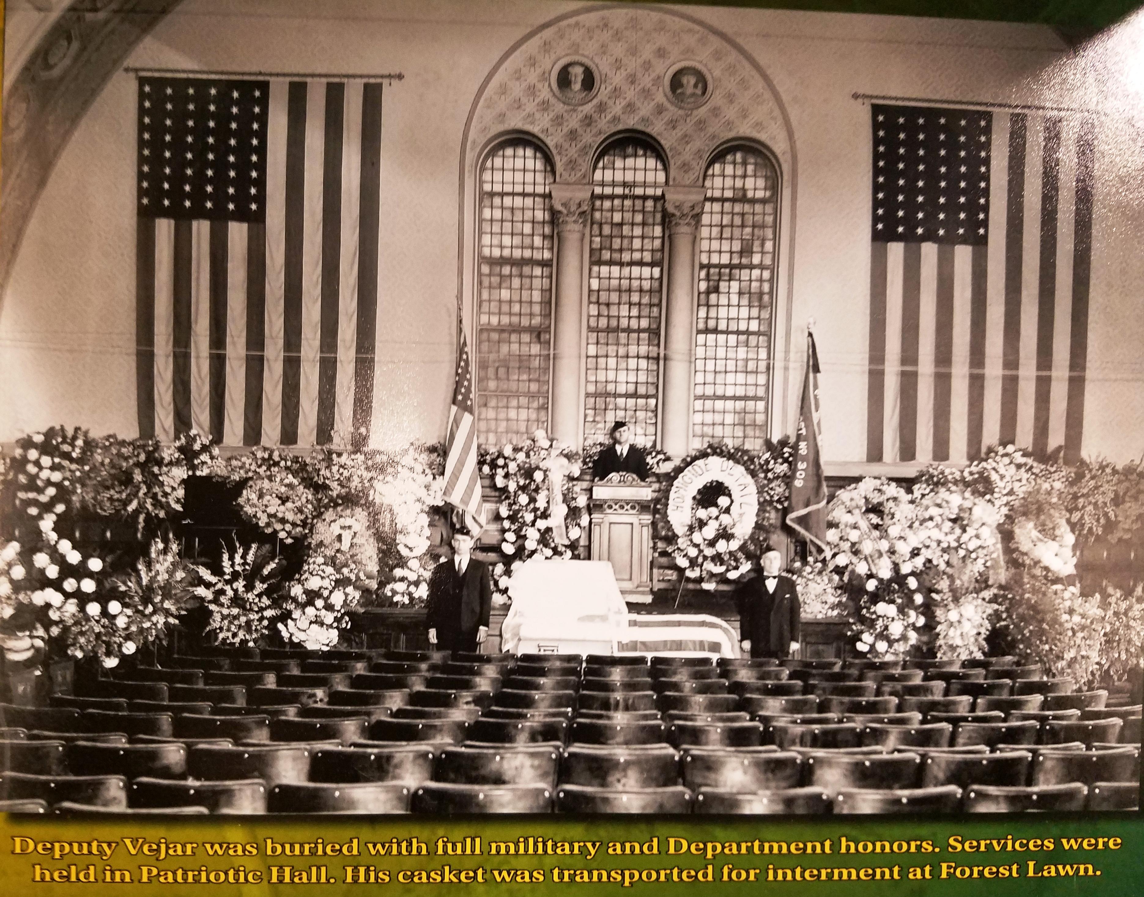 RG Vejar Funeral at Patriotic Hall