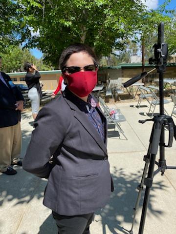 Our ALA videographer Gabby