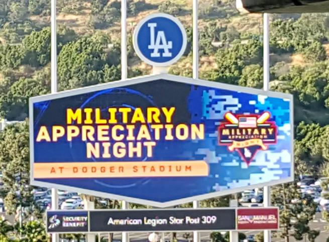 Dodgers Military Appreciation Night