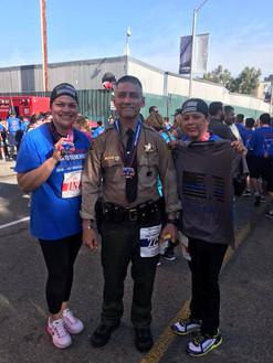 Half marathon in full duty uniform