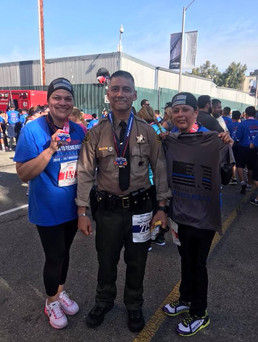 Half marathon in full duty uniform