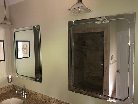Mirrors, beveled mirror, custom mirror, bathroom, mississippi