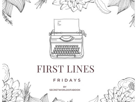 - First Lines Friday January 29th 2021 -