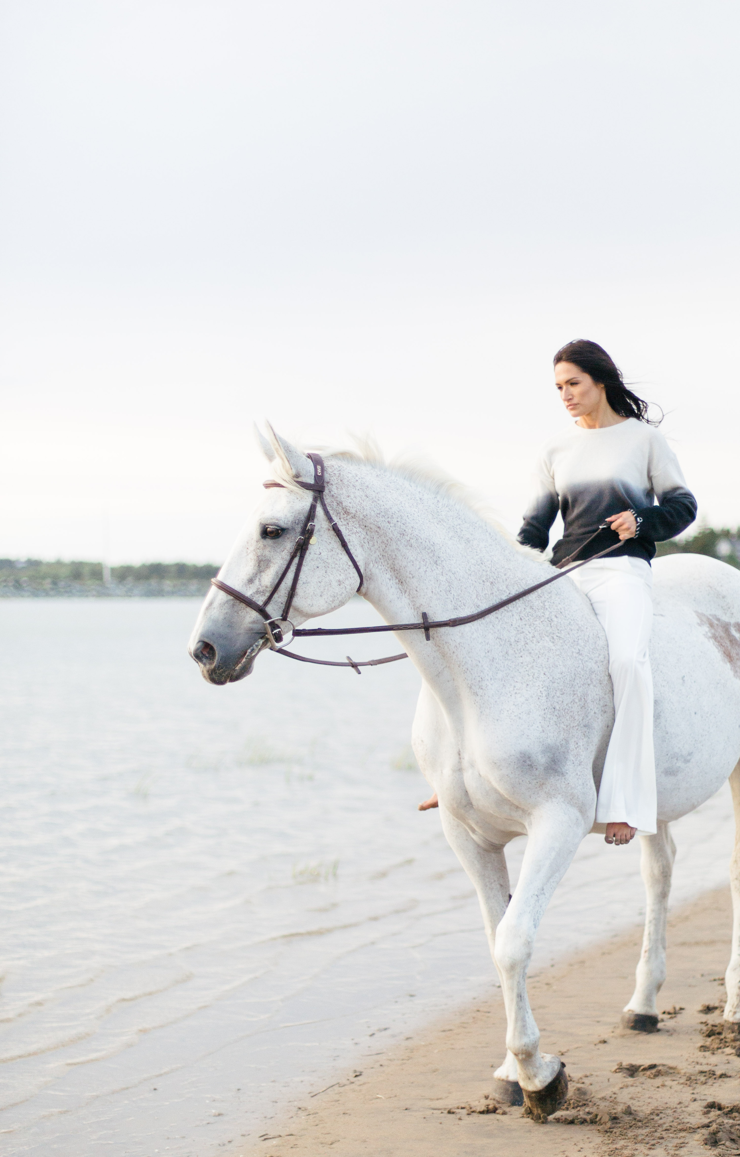 Equestrian session on the beach in Lawrencetown for Meraki Creative and Alexa Fairchild. Nova Scotia. Marie Roy Photography.