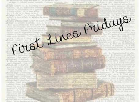First Lines Friday - October 2nd