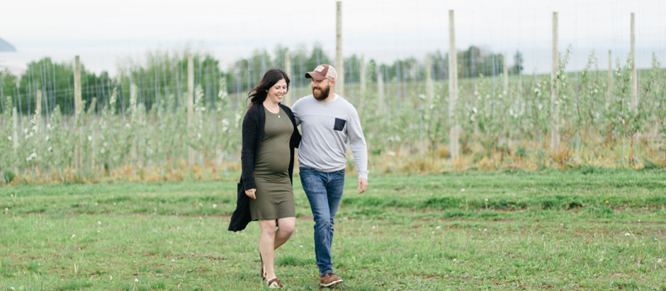 Maternity Session in the Apple Blossoms