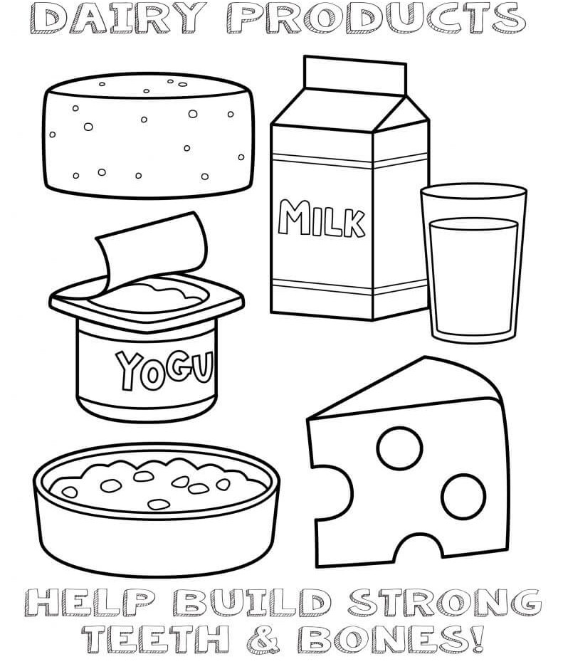 Dairy coloring