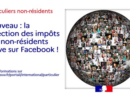 Fiscalité : nouvelle page Facebook de la DINR et lettre de la Députée Genetet
