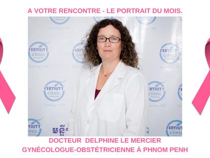 Le Portrait du mois (octobre rose) : Delphine Le Mercier