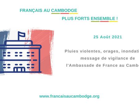 Sihanoukville : message de prévention de l'Ambassade de France.