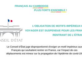 Suspension des motifs impérieux pour se rendre en France ! Une belle victoire citoyenne.