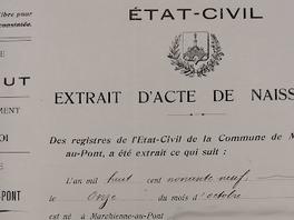 Vous avez la parole : Acte Etat civil pour un français né à l'étranger.