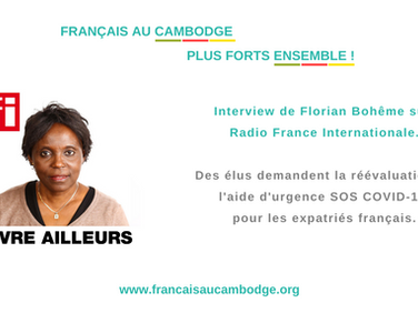 SOS COVID-19 : Florian Bohême interviewé par RFI