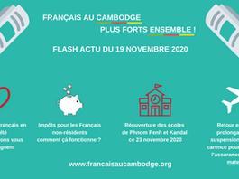 Flash actu du 19 novembre 2020