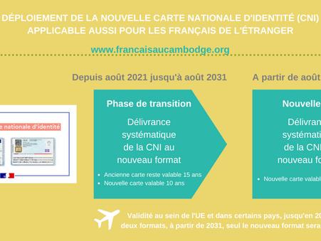 Déploiement du nouveau format pour la Carte Nationale d'Identité