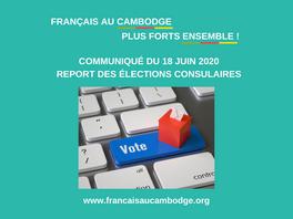 Elections consulaires : communiqué du collectif Français au Cambodge, Plus Forts Ensemble !