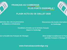 Flash actu du 30 juillet 2020