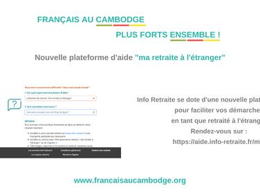 """Retraités - lancement de la plateforme d'aide """"Ma retraite à l'étranger"""""""