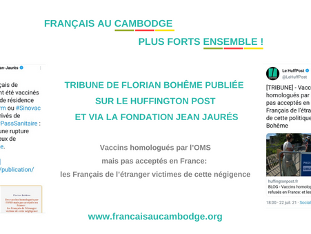 Reconnaissance vaccinale : tribune de F. Bohême sur le HuffPost et via la Fondation Jean Jaurès