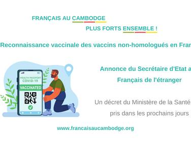Délivrance des passes sanitaires pour les vaccins non-reconnus - acte II