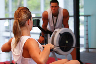 Miki and Chris in a personal training session