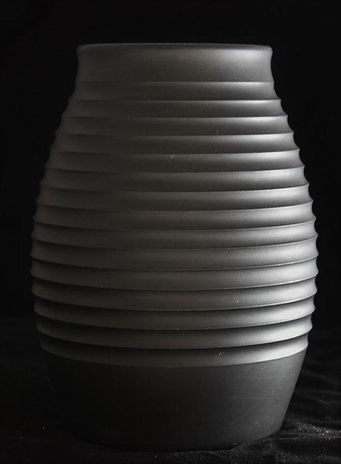 Keith Murray Wedgwood Black Basalt Vase