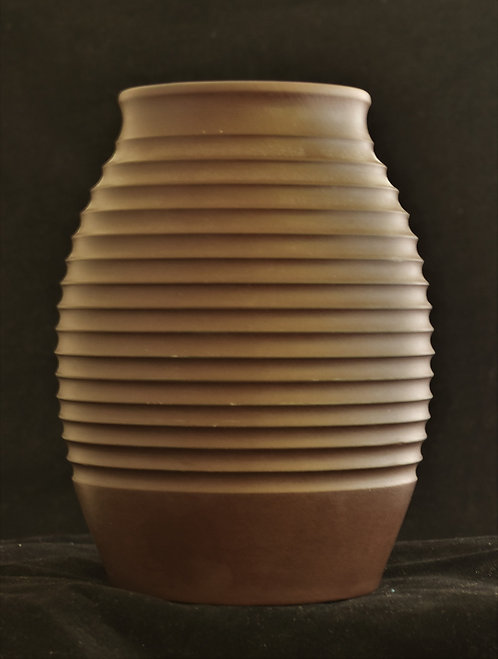 Keith Murray Wedgwood Bronze Basalt Vase